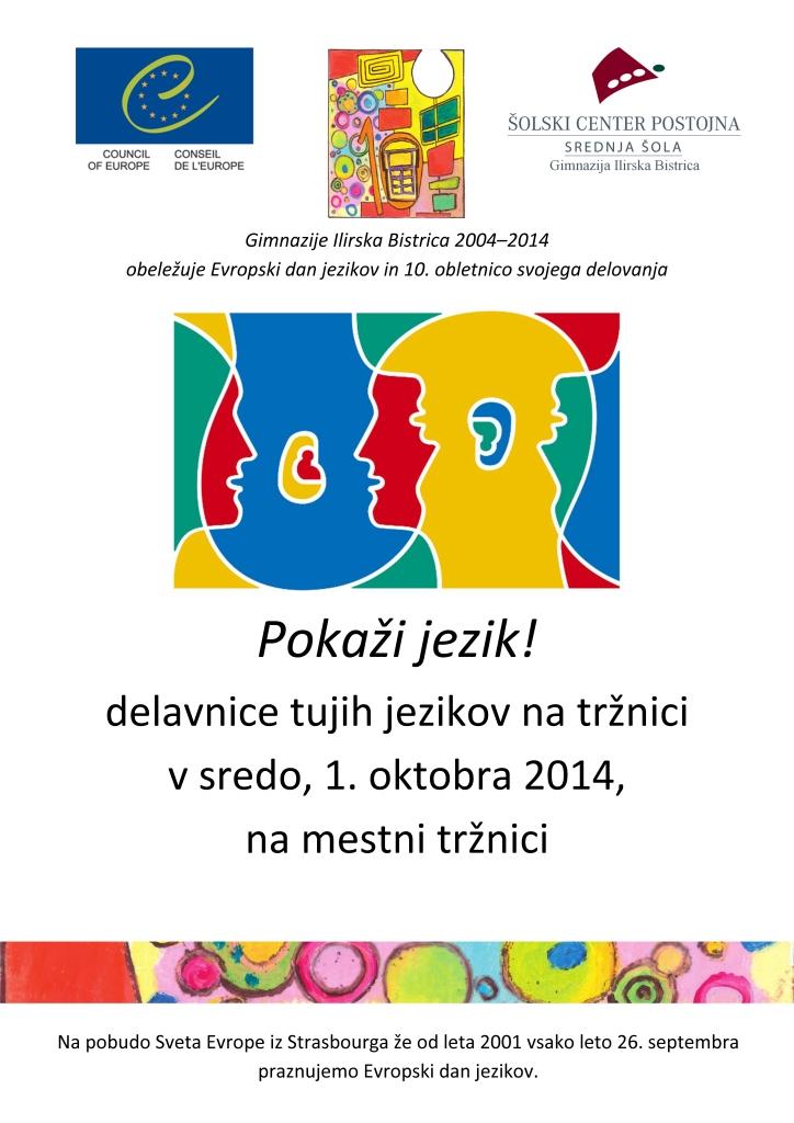 Delavnice tujih jezikov - Plakat - Web