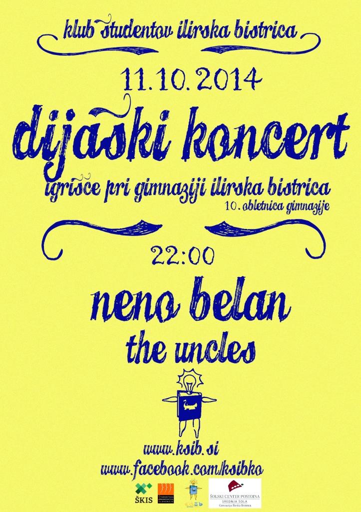 Dijaški koncert - Plakat