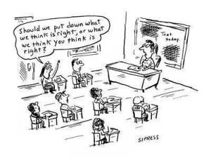 Pravilno je, kar učitelj misli, da je pravilno