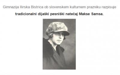 Dijaški pesniški natečaj Makse Samsa … na daljavo! ;)