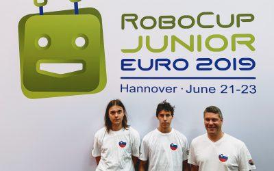 Ekipa Gimnazije Ilirska Bistrica na RoboCupJunior EURO 2019