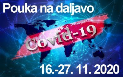 Izvajanje pouka na daljavo, 16.-27. 11. 2020