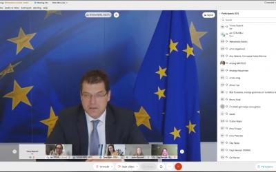 Razprava z evropskim komisarjem Janezom Lenarčičem